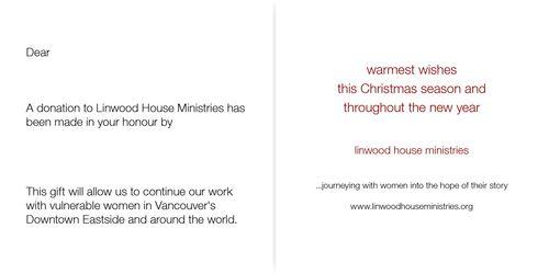 Linwood's Christmas Card 2010 - Inside