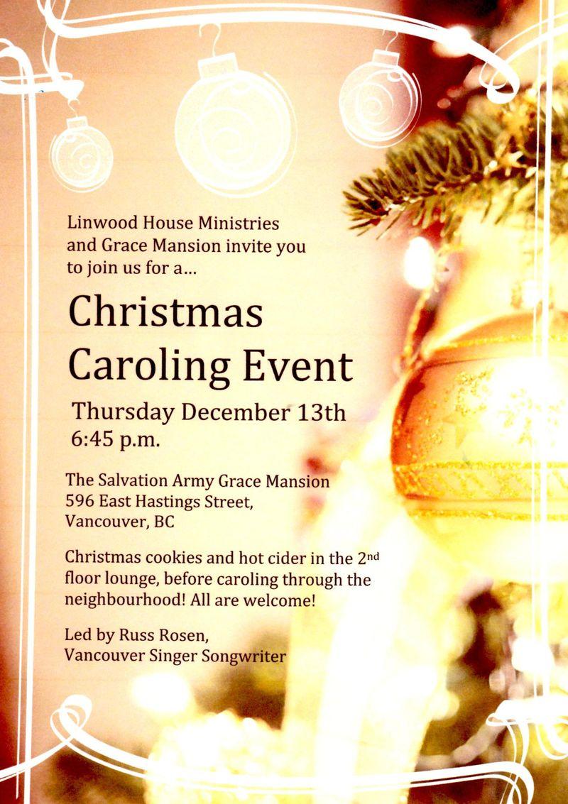 Christmas Caroling Dec 2012
